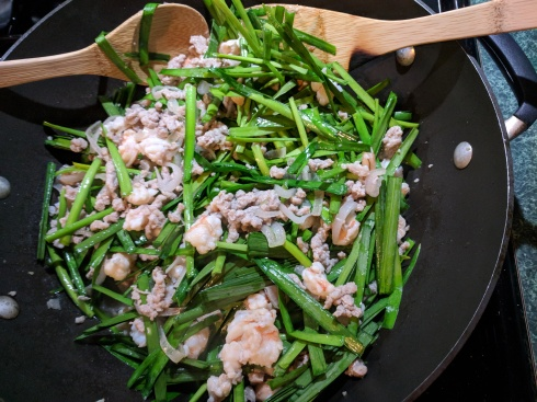 Chinese Chives with shrimp and pork